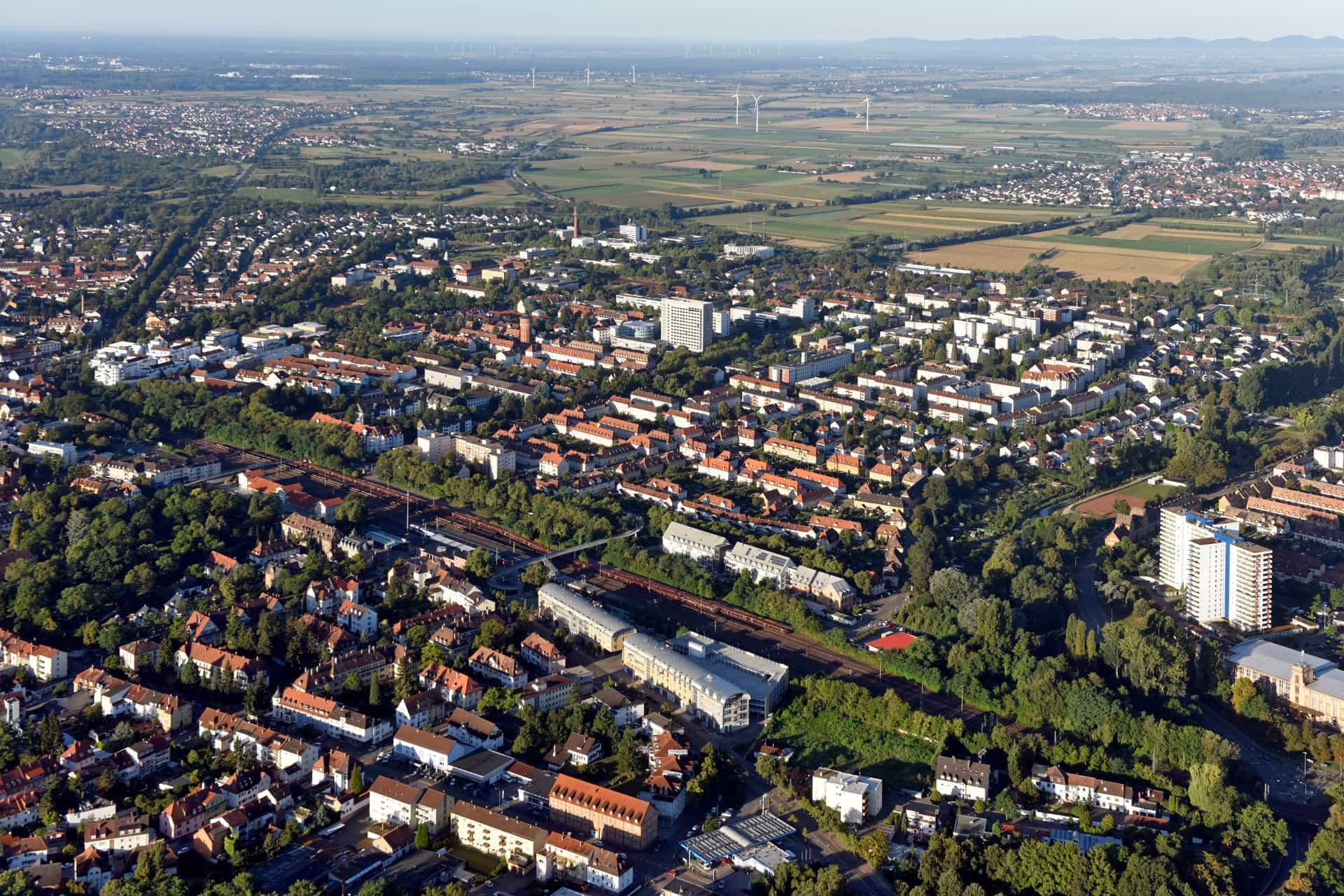 Speyer aus der Luft.