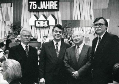 Vorstand und Aufsichtsratsvorsitzender der GBS 75 Jahre